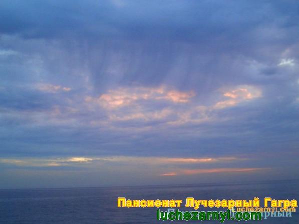 Море небо